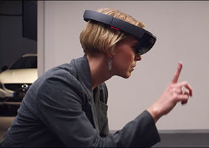 woman with hololens