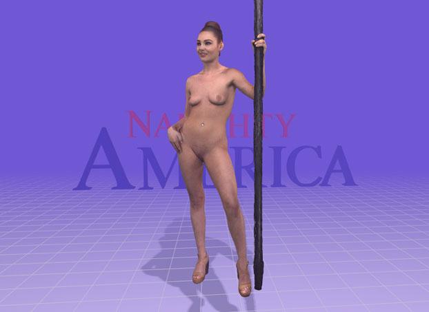 a naughty america 3d stripper
